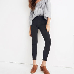 Madewell The Anywhere Jeans in black sz 26 pull on